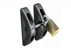 Rygiel zatrzaskowy do bram i furtek D&D (TL01) z możliwością zamknięcia na kłódkę, czarny