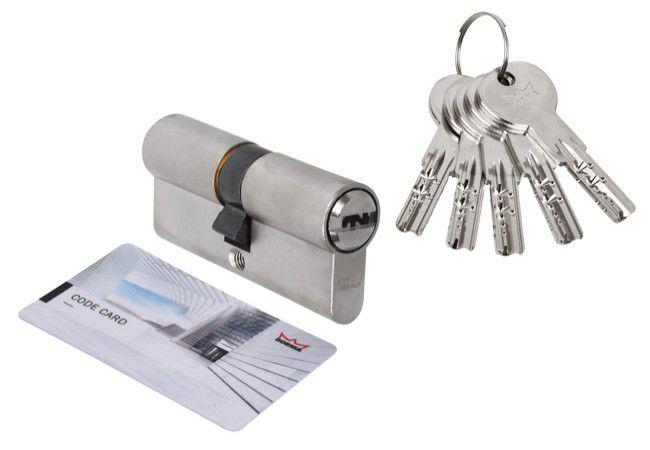Wkładka bębenkowa DORMA DEC 261 45/65, nikiel 5 kluczy, (atest kl. 6.2 C),bezpieczne sprzęgło