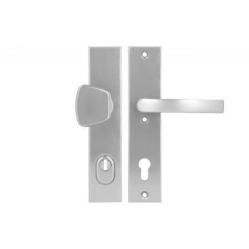 Pochwyt-klamka Axa ODIN 92 WB klasa 3 z zabezpieczeniem wkładki FLEX (p.poż.), kolor  F6 (gr.drzwi 74-83 mm)