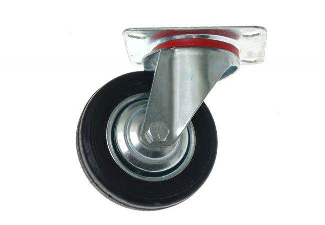 Kółko CKPS-SG 100W skrętne z czarną gumą ( nośność do 80 kg )