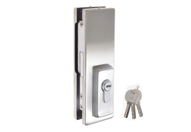 Zamek do drzwi szklanych z ryglem prost. TD-040 8-12 mm 304SS