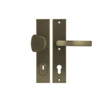 Pochwyt-klamka Axa ODIN 92 WB klasa 3 z zabezpieczeniem wkładki FLEX (p.poż.), kolor  F4 (gr.drzwi 74-83 mm)
