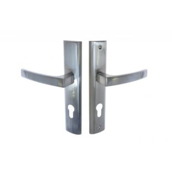 Klamka drzwiowa wejściowa INFINITY HERMES KHR 312W 72 wkład satyna prawa