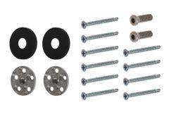 Mocowanie do uchwytu jednostronnego  WALA PA , czarna anoda (do profilu PVC)