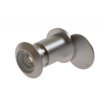 Wizjer drzwiowy fi 27 40-70 mm chrom-satyna kąt widzenia 180 stopni
