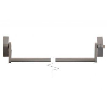 Dźwignia antypaniczna CROSSBAR, 1pkt. ryglowanie boczne, do drzwi o szer. 1200 mm, srebrna