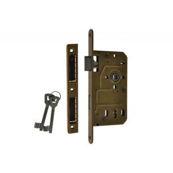Zamek 72/55 BOX klucz lakier piaskowy lewy