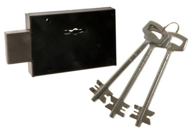 Zamek Metalplast Częstochowa 2-piórowy nakładany do drzwi metalowych