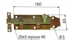 Zasuwka prosta L-160 mm (115418)