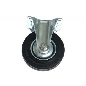 Kółko CTPW-SG 125W stałe z czarną gumą (nośność do 100 kg)