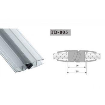 Uszczelka magnetyczna do kabin prysznicowych TD-005 10 mm 2,2 mb(US-HR-011)