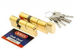 Kpl.wkładek Abus D10+KD10MM 50/40 + 50g/40 mosiądz kl 5.2, 5 kluczy