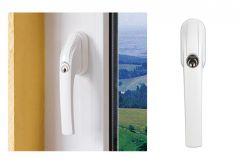 Klamka okienna Abus FG 300 z kluczem, biała