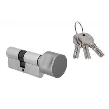 Wkładka bębenkowa DORMA DEC 260 50G/50, z gałką okrągłą nikiel,  3 klucze, (atest kl. 5.1 B)