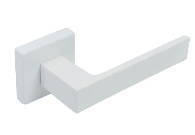 Klamka drzwiowa Eliot z rozetą biała