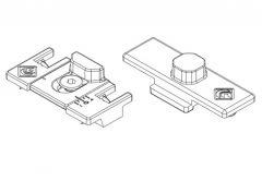Punkt ryglowania Master z regulowanym zaczepem, do okien aluminiowych
