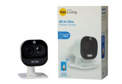 Kamera zewnętrzna WiFi Yale All in One z czujnikeim ruchu i mikrofonem, Full HD 1080p