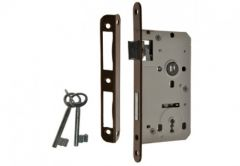 Zamek wpuszczany 90/50 klucz, z dźwignią i 2 kluczami