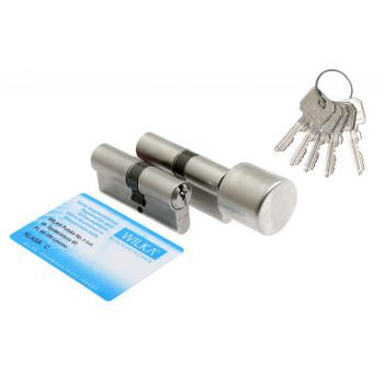 Kpl. wkładek WILKA 1400 40/50+ 1405 50g/40 nikiel z gałką klasa C
