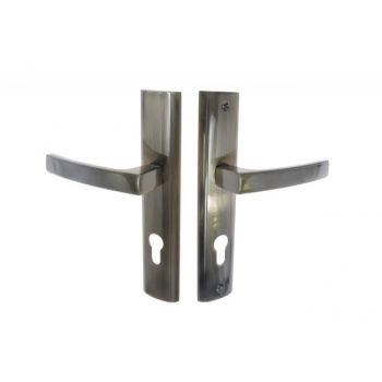 Klamka drzwiowa wejściowa INFINITY HERMES KHR 412W 72 wkład patyna prawa