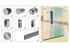Zestaw okuć do przesuwnej kabiny prysznicowej (2mb) TD-B002 304SS (ZE-HR-000)